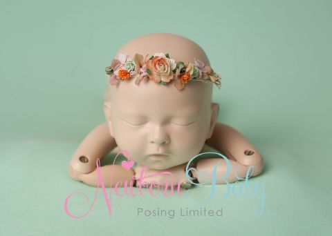 Delicate Floral Hair Tie - Pink/Peach/Mint